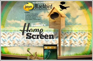 joyn Blackbird - HomeScreen
